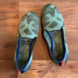 Rothy's Loafer - Olive Camo - Size 6